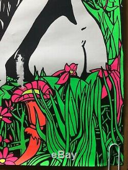 The Burden Of Life Is Love Original Vintage Blacklight Poster 1960s Psychedelic