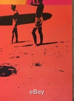 The Endless Summer Original Vintage Poster Blacklight Movie Surf 60s Bruce Brown
