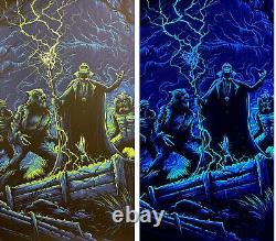 The Monster Squad Blacklight Dracula Movie Art Print Poster Mondo Dan Mumford