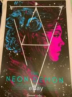 The Neon Demon BLACKLIGHT Variant by Nikita Kaun Screen Print Poster Art Mondo