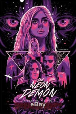 The Neon Demon Beauty is Vicious Dave Stafford Poster Blacklight 24x36 Mondo