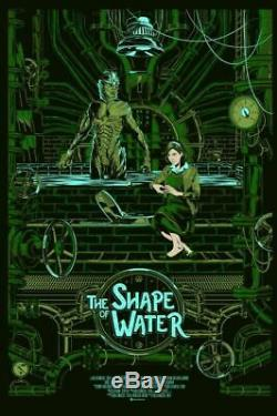 The Shape of Water Mainger Poster Screen Print Art Blacklight 24x16 Mondo