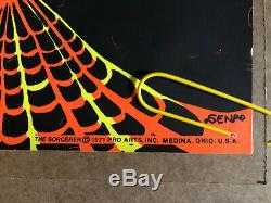 The Sorcerer Original Vintage Black Light Poster Psychedelic Head Shop Pin Up