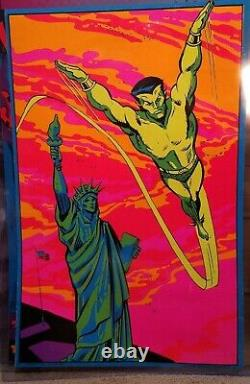 The Submariner 1971 Vintage Marvel Comics Blacklight Poster The Third Eye
