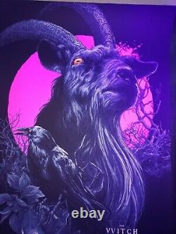 The Witch Black Phillip Print Poster Neon Pink Blacklight Not Mondo Sold Out