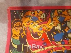 Third Eye / Marvel Original It's Psyklop Black Light Poster 1971 Rare HULK