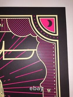 Tool Poster Milwaukee Fiserv Silkscreen Signed Numbered Halloween Blacklight Art