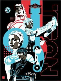 Tron Danny Haas Poster Screen Print Blacklight Art 18x24 Mondo