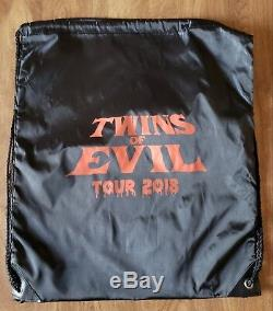 Twins of Evil Marilyn Manson Rob Zombie VIP Lanyard, Black light Poster, Patch +