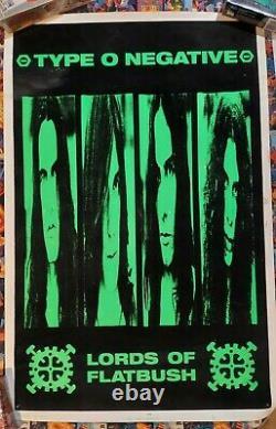 Type O Negative Lords of Flatbush 1996 Blacklight Poster Blue Grape Scorpio Rare