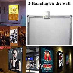 Ultra-thin LED Light Box Restaurant Cafe Poster Illuminate Frame Menu Board Sign