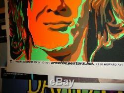 Unopened Creedence Clearwater Revival 1969 Ccr Vintage Blacklight Rock Poster