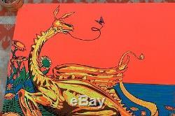 VINTAGE 1971 PRO ARTS BLACKLIGHT BLACK LIGHT LOCH NESS MONSTER POSTER 33x21