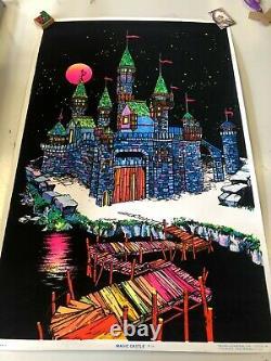 VINTAGE BLACKLIGHT POSTER #125 Magic Castle 1974 Funky Enterprises AA Sales