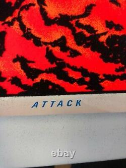 VINTAGE BLACKLIGHT POSTER #1603 Attack 1986 Scorpio Posters Inc. Reaper Horse