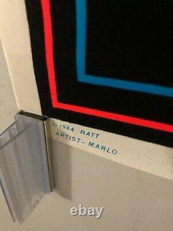 VINTAGE BLACKLIGHT POSTER #808 Ratt 1984 By Marlo Funky Enterprises Glam Metal