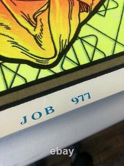VINTAGE BLACKLIGHT POSTER #977 JOB Funky Enterprises Inc. Velva-Print Weed Humor