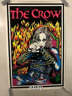 VINTAGE BLACKLIGHT POSTER Brandon Lee The Crow Iconic Gothic Action Dramas