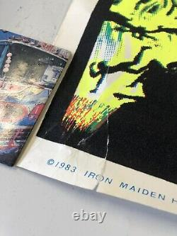 VINTAGE BLACKLIGHT POSTER Iron Maiden Devil #802 Funky Holdings Flames Metal sik