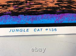 VINTAGE BLACKLIGHT POSTER JUNGLE CAT #136 1973 Rare Panther/ Jaguar True retro