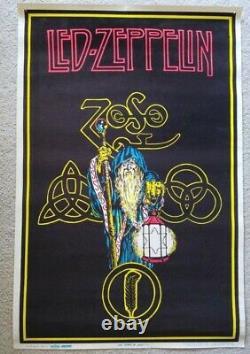 VINTAGE BLACKLIGHT POSTER Led Zeppelin Zoso #836 1992 Myth Gem LTD Winterland