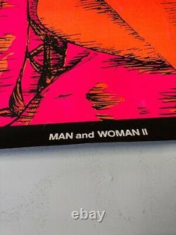 VINTAGE BLACKLIGHT POSTER Man And Woman 2 1970 Houston HB50 Conan Barbarian