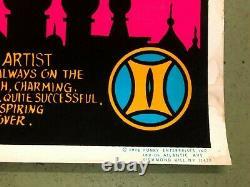 VINTAGE BLACKLIGHT POSTER Spirit Of Gemini 1976 #607 Funky Enterprises Inc