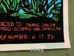 VINTAGE BLACKLIGHT POSTER Spirit Of Pisces 1976 #604 Funky Enterprises Zodiac
