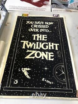 VINTAGE BLACKLIGHT POSTER TWILIGHT ZONE Glow in the Dark e=mc2 RARE 1989 pf-197