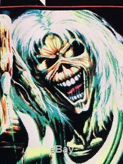 VINTAGE Iron Maiden Number Of The Beast 1983 Black Light Poster 23x35 #802