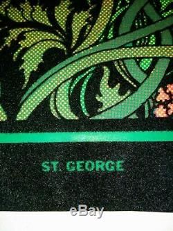 VIntage Black Light POSTER Western Graphics 70s ST. GEORGE Very Rare