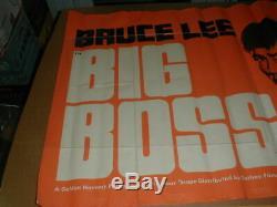 VTG Old Bruce Lee Big Boss Golden Harvest Rare movie Poster 30x40 blacklight