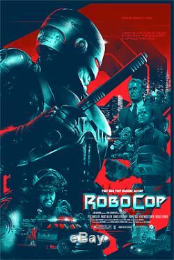 Vance Kelly ROBOCOP'87 BLACKLIGHT Poster Movie Print Mondo Art Gabz RARE x/70