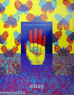 Victor Moscoso Authentic Original Red Rose San Francisco Rock Promo Poster 1968