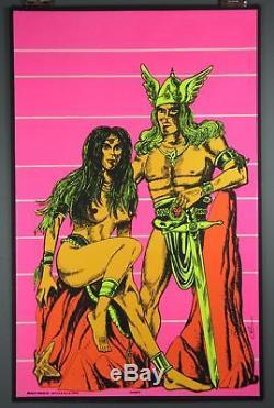 Viking's Vintage Silkscreen Blacklight Poster c. 1970