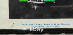 Vintage 100% Original 1998 South Park Black Light Flocked Poster Very Rare HTF