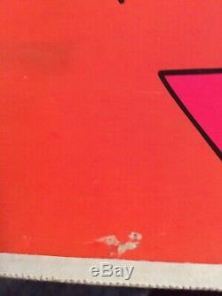 Vintage 1960s The Burden Of Life Is Love Black Light Poster 23 X 36 Original