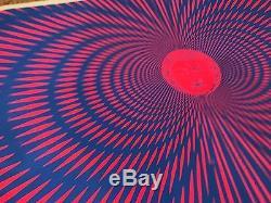Vintage 1967 Joe Nardi Sachs Black Light Poster Psychedelic Buddha 23 X 35
