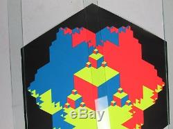 Vintage 1968 Psychedelic Blacklight Poster CONVEX CONCAVE Clard Svensen TRIPPY