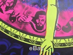 Vintage 1968 Psychedelic Blacklight Poster Sexy PEACE PURPLE REALM Rik Vig Platt