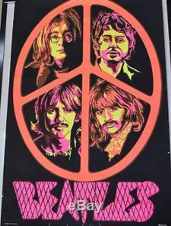 Vintage 1969 Beatles Blacklight Poster
