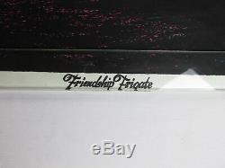Vintage 1970 FRIENDSHIP FRIGATE Ship Boat Psychedelic Blacklight Poster CLIPPER