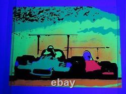 Vintage 1970 McLAREN RACE CAR Blacklight MOVIN OUT Poster FLYING DUTCHMAN PRESS