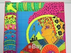 Vintage 1970 Psychedelic Blacklight Poster KARUM EDUARDO ARDERI Flying Dutchman