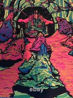 Vintage 1970 Third Eye Blacklight Poster 2000 Light Years from Home #230 Rhodes