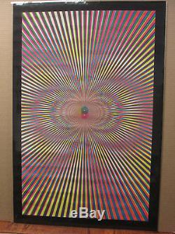 Vintage 1970 original psychedelic blacklight poster 7882