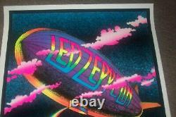Vintage 1970s Led Zeppelin Blacklight Poster Stairway To Heaven 23x35'