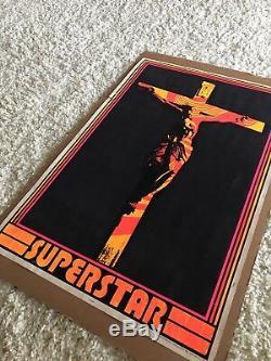 Vintage 1971 JESUS CHRIST SUPERSTAR Black Light Poster Psychedelic Religious