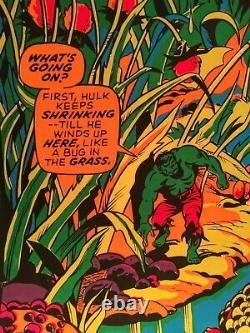 Vintage 1971 Marvel Third Eye Original Black Light Dayglo Hulk Poster Neon