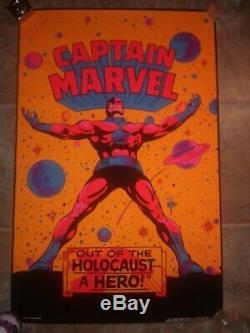 Vintage 1971 Marvel Third Eye blacklight poster #4004 Captain Marvel original